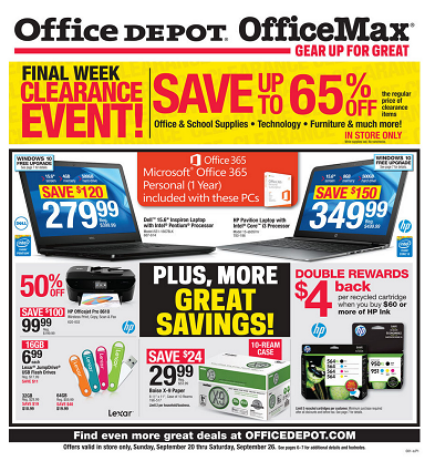Office Depot and OfficeMax Weekly Ad Circular